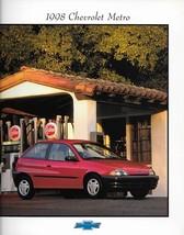 1998 Chevrolet METRO brochure catalog US 98 LSi Swift - $6.00