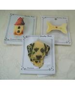 Pins/Brooches, Set of 3 Pet Themed Plastic: Dog, Bone, & Birdhouse, Fun! - $10.00