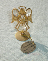 Angel 24K Gold Plated Crystal Delight Sun Catcher by Mascot - Austrian C... - $12.62
