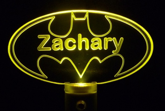 Personalized Batman LED Night Light Customized with Name, Great Personalized Gif