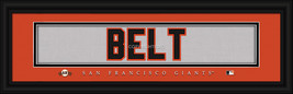Brandon Belt San Francisco Giants Player Stitched Jersey 8 x 24 Framed Print - $39.95