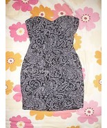 Paisley Lace Bodycon Strapless Dress S - $13.06