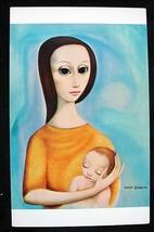 "BIG EYE Margaret KEANE POSTCARD MDH 1964 ""Mother and Child"" Mom Baby UNUSED - $11.88"
