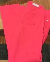 LIZ CLAIBORNE PINK SIZE 4P STRETCH STRAIGHT PANTS - $23.11