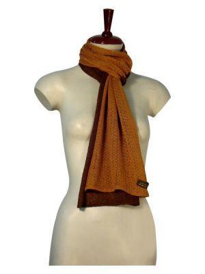 Primary image for bicolor crocheted scarf, shawl of Babyalpaca wool