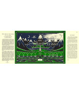 Tolkien-THE HOBBIT facsimile dust jacket for 19... - $22.00