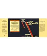 Ernest Hemingway-Facsimile dust jacket for Winner Take Nothing 1st ed - $21.56