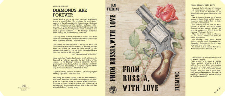 Fleming-Facsimile dust jacket for 1st UK edition of FROM RUSSIA WITH LOVE