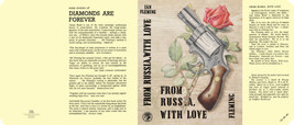 Fleming-Facsimile dust jacket for 1st UK edition of FROM RUSSIA WITH LOVE - $22.00