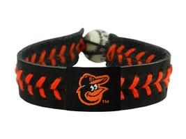 MLB Baltimore Orioles Team Color Leather Baseball Bracelet - $12.99