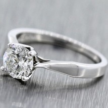 1.00ctw Near Colorlress Round Brilliant Cut 18k White Gold Engagement Ring - €3.611,49 EUR