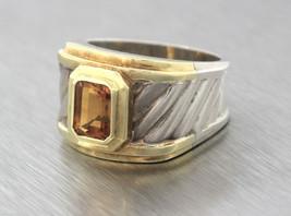 Unique Ladies David Yurman 925 Silver 14K Gold Thoroughbred Cable Citrin... - $449.95