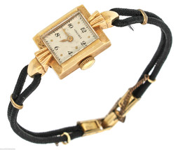 Vintage Longine17 Jewel Solid 14K Yellow Gold Ladies Watch Gemex G.F Works Fine - $589.99