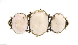 Antique Victorian 14K Gold Stone Cameo Pin/Brooch - $749.00