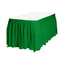 Touch of Color Easy Stick Plastic Table Skirt, 14-Feet, emerald green - £5.35 GBP