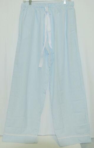 Ellie O Adult Seersucker Lounge Pants Size Large Color Blue