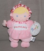 Prestige Baby Lovey Security Plush Rattle Pink Doll Blonde My First Sati... - $39.59