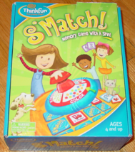 SMATCH MEMORY GAME WITH A SPIN 2008 THINKFUN COMPLETE EXCELLENT - $15.00