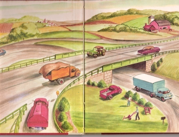 Ships At Work, Trucks At Work by Mary Elting, two illustrated 1953 books