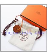 RARE AUTH NWB Hermes TOKEN Leather Key Holder or Bag Charm FAUVE BARENIA - $490.00