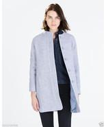 NWT Zara Sky Blue Wool Coat Jacket size S small - $142.00