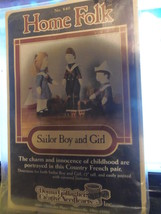 Vintage1985 Home Folk Sailor Boy & Girl Stuffed... - $4.99