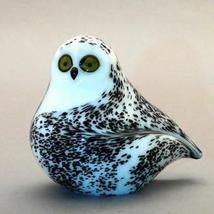 Orient & Flume Snowy Owl Art Glass Figurine - $135.00