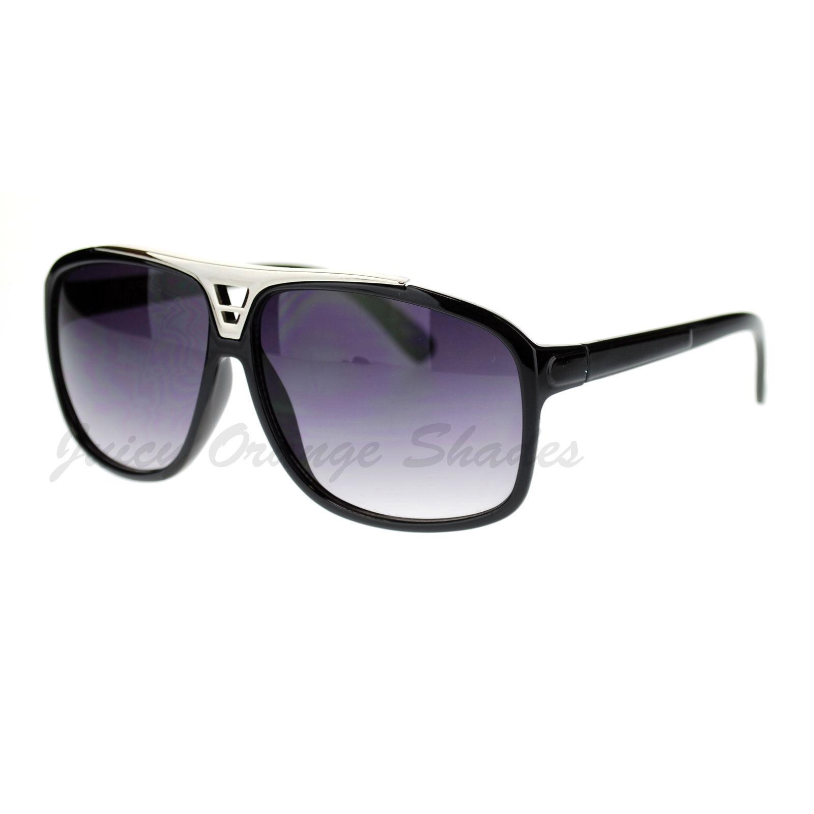 Retro Unisex Square Frame Sunglasses Top Designer Fashion Shades