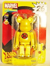 Medicom Toy Bearbrick Be@rbrick unbreakable 100% MARVEL Comic X-MEN LOGO Symb... - $20.69