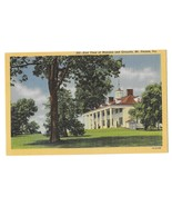 VA Mount Vernon East View of Mansion Vintage Linen Postcard - $4.99