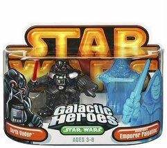 Star Wars Galactic Heroes - Darth Vader & Holographic Emperor Palpatine 2pk - $15.99