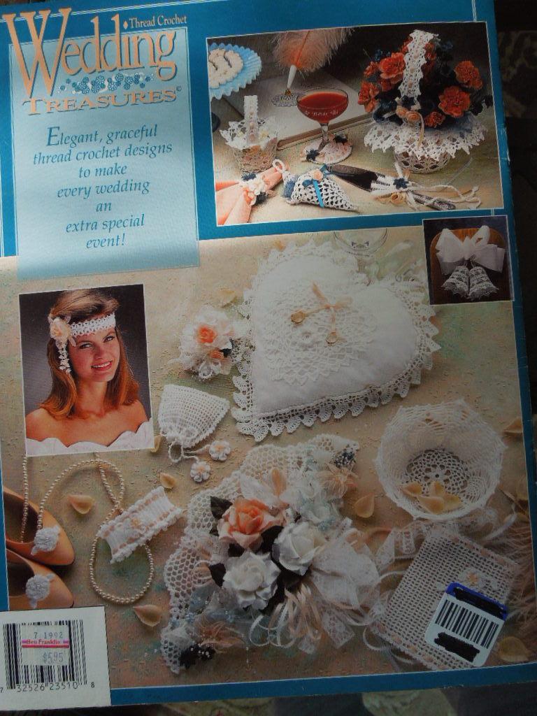 """Vintage Crochet - 1992  """"Wedding Treasures"""" by Annie's Attic #7017"""