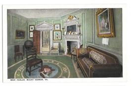 VA Mount Vernon West Parlor George Washingtons Home Vintage BS Reynolds ... - $4.99