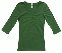 Ed Hardy Size M Womens Green Crossover Top - $10.99