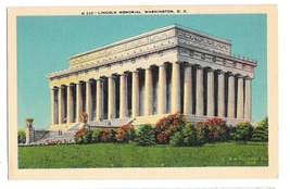 Washington DC Lincoln Memorial Vtg BS Reynolds Linen Postcard - $4.99