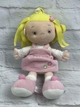 "Aurora 10"" Baby Doll Plush Girl Stuffed Lovey Toy Blonde Hair Brown Eyes - $12.16"