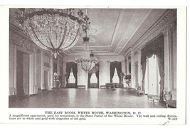 Washington DC East Room White House Vintage Photo Type Postcard - $4.99