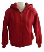 Juniors Size S Burgundy Sherpa-Lined Hoodie  - $14.99