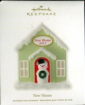 2011 Hallmark Keepsake Ornament - New Home - Snowman in Front of Home - $3.95
