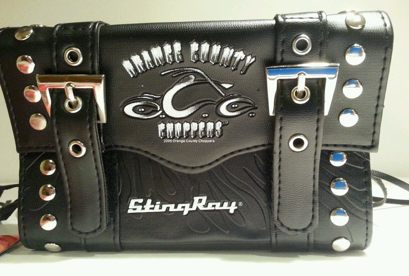 2 Orange County Choppers genuine authentic stingray saddle bags