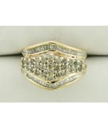 10K 1.20 Carat Diamond Cluster Dinner Ring - $349.95