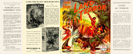 Edgar Rice Burroughs LAND OF TERROR facsimile dust jacket for the first ... - $22.00