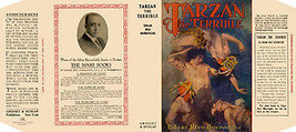 Edgar Rice Burroughs TARZAN THE TERRIBLE facsimile dust jacket for the f... - $22.00