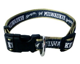 MILWAUKEE BREWERS Dog Collar * MLB Baseball Team Fan Pet Puppy Nylon Spo... - €10,49 EUR