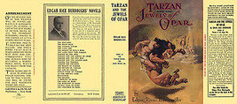Edgar Rice Burroughs TARZAN AND THE JEWELS OF OPAR facsimile dust jacket... - $22.00