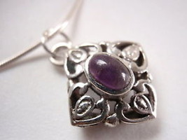 Amethyst 925 Sterling Silver Necklace India best offer - €15,63 EUR