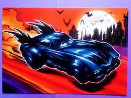 Halloween Hallmark Bat Man, Bat Mobile Greeting Card, Full Moon, Bats, U... - $5.99