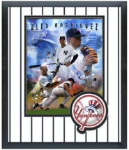 Alex Rodriguez 2005 NY Yankees - 11 x 14 Team Logo Matted/Framed Composite Photo - $42.95