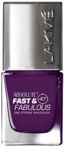 Lakme Fast and Fabulous Nail Color, Purple It, 10ml [Health and Beauty] - $5.01