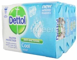Dettol 4pc 70g Anti Bacterial Soap Cool Trusted Protection Made in Thailand - $51.12